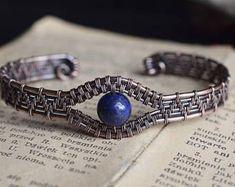 Custom #gemstones Cuff Bracelet. Copper Bracelet. Silver Cuff Bracelet. Wire Wrapped Gemstone. Boho Jewelry. Labradorite Bracelet. Cuffs.