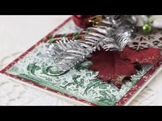 Irina Gerschuk - embossed background with resist-effect - YouTube