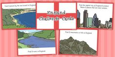 Our Country England Challenge Cards - challenge, cards, country National Curriculum, London Places, Our Country, Capital City, London England, Geography, Teaching Resources, United Kingdom, Challenge Cards
