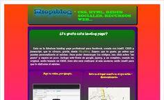 landing page profesional para facebook gratis - html5