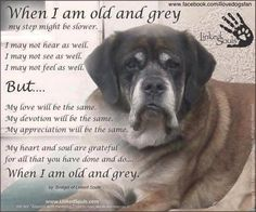 When I am old and grey....brought tears...
