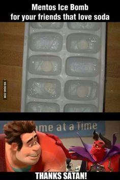 Mentos Ice Prank