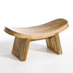 Fuyuka Low Yoga Stool AM.PM Ideal for meditating, yoga or just relaxing. We love the natural shape of this solid mango stool. Taller stool available online. Woodworking Furniture, Handmade Furniture, Wooden Furniture, Furniture Design, Outdoor Furniture, Outdoor Decor, Meditation Stool, Woodworking Inspiration, Wood Stool