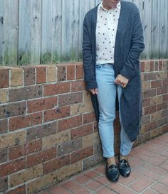 5/1 Witchery shirt, Acne cardigan and heans, Topshop shoes