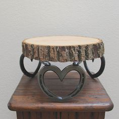 Western wedding cake stand base cupcake by BlacksmithCreations
