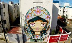 Street Art in Puebla, Mexico. Comex.