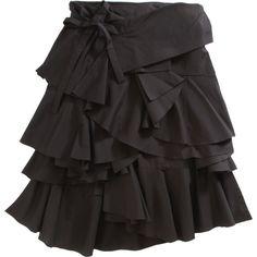 Comme des Garçons Wrap Fold Ruffle Skirt (10.525 RUB) found on Polyvore