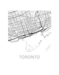 Toronto Map Print by iLikeMaps on Etsy