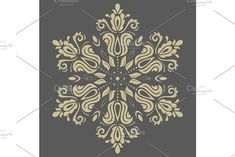 Oriental vector pattern with damask, arabesque and floral golden elements. Damask Patterns, Arabic Design, Arabesque, Vector Pattern, Abstract Backgrounds, Oriental, Ornaments, Floral, Cards