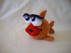 Woolly Toons: Marilyn the Fancy Fish. Free pattern.