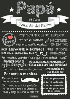Feliz Día del Padre! En España se celebra el 19 de marzo.