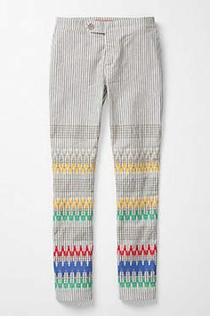 Stitched and Striped Pants
