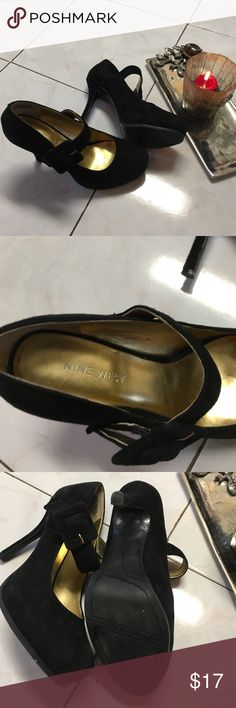 Nine West Dressy Black Suede Shoes Great comfy dress shoes gently worn and great for those Holiday parties! Nine West Shoes Heels