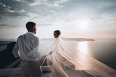 Our summer wedding in Santorini, Greece.