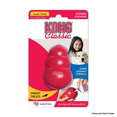 KONG - Classic Dog Toy - Durable Natural Rubber - Fun to Chew, Chase and Fetch - for Small Dogs Tough Dog Toys, Small Dog Toys, Small Dogs, Classic Toys, Pet Shop, Dog Toys Amazon, Dog Chew Toys, Pet Toys, Dog Toys