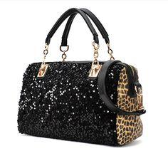 Nice Leopard Sparking Handbag