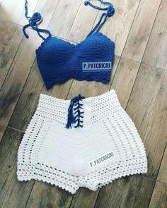 Crochet Bra, Crochet Bikini Pattern, Crochet Bikini Top, Crochet Shoes, Crochet Blouse, Cute Crochet, Crochet Clothes, Crochet Crafts, Crochet Bathing Suits