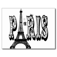 postcard Paris - created by joacreations
