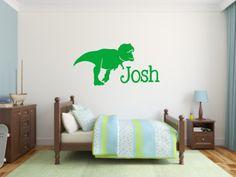 Vinyl Wall Decal Sillhouette T-Rex Dinosaur by BlueCoutureDesign