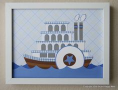 Riverboat Afloat by studiohappynest on Etsy