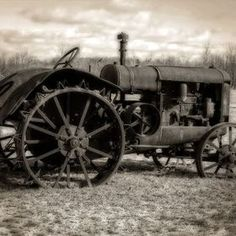 Antique Tractor by Monty