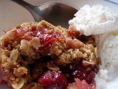 Pear, Apple, cranberry cobbler