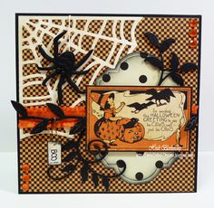 Not really Cricut design, but it could be.  Uses Graphic 45 Happy Haunting paper.