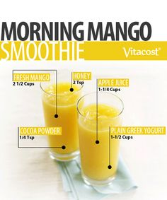 Morning Mango Smoothie #Recipe #Vitacost #VitacostFoodie #Healthy #DIY #Smoothie