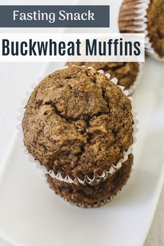 Eggless buckwheat banana muffins recipe - made using buckwheat flour (kuttu ka atta), banana, butter and brown sugar. The ingredients used in the recipe are allowed in Hindu fasting or vrat or upvaas. So these muffins can be eaten during the vrat or fast like Navratri, ekadasi. These muffins are very soft, moist and spongy. The taste and texture will be different than regular muffins. Buckwheat Muffins, Buckwheat Cake, Healthy Muffin Recipes, Healthy Muffins, Atta Recipe, Baking Recipes, Cake Recipes, Navratri Recipes, Chocolate Banana Muffins