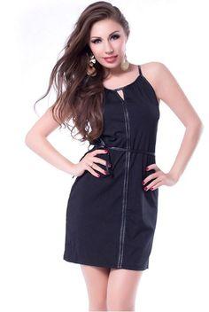 N-Gal Black Polyester/Spandex Dress