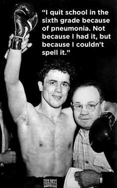 Rocky Graziano On Education | The Funniest Quotes In Sports History
