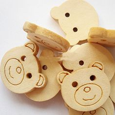 Find More Buttons Information about 18mm White Bear Head wood buttons for craft sewing mixed crystal handmade diy gift/Clothes/jewelry/headwear,High Quality wood floor,China button camera with audio Suppliers, Cheap button bluetooth from Playful beauty department store on Aliexpress.com