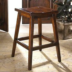antique looking bar stool that they all sat on around Franks bar Franks Bar, Wooden Bar Stools, Counter Stools, Stage, Layout, Traditional, Antiques, Furniture, Design