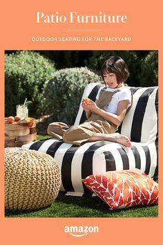 Outdoor Seating, Outdoor Spaces, Outdoor Living, Outdoor Decor, Porches, Fresco, Small Patio Design, Backyard Patio, Porch Decorating