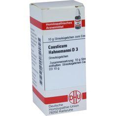 CAUSTICUM HAHNEMANNI D 3 Globuli:   Packungsinhalt: 10 g Globuli PZN: 07455790 Hersteller: DHU-Arzneimittel GmbH & Co. KG Preis: 5,19 EUR…