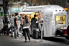 Concession Trailer, Food Trailer, Vintage Airstream, Vintage Travel Trailers, Truck Store, Burrito Bar, Wine Bistro, Food Business Ideas, Coffee Trailer