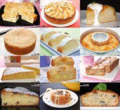 Doce recetas de bizcocho con manzana