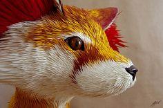 Fennekin Sculpture by all things paper, via Flickr
