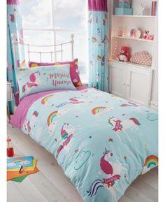 Kids Girl's Unicorn Fairytale Single Duvet Cover Bedding Set with pillowcase Bedding Sets Uk, Cute Bedding, Luxury Bedding Sets, Duvet Sets, Duvet Cover Sets, Cute Duvet Covers, Comforter Cover, Home Bedroom Design, Single Duvet Cover
