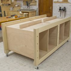 High Capacity Multi-Function Workbench Finally I can put the frames and the cabinets together, the four parts that make up the structure o