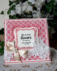 Flowers, Ribbons and Pearls: Tuesday Tutorial - Labels One Card Front