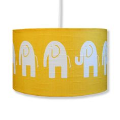Add a splash of sunshine yellow, fresh green or gorgeous grey to your child's bedroom with this gorgeous handmade funky elephant lampshade. £40.00