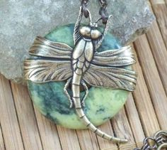 Doreen's Dragonfly  Brass and yellow turquoise by simplywillow, $30.00