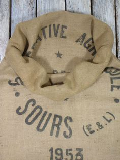 BURLAP French Flour Sack Printed on TWO by simplyfrenchvintage