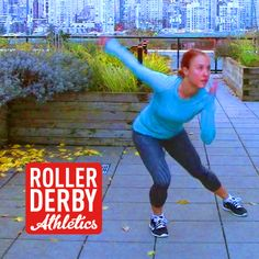 A No Hands Roller Derby Workout - great if you have an injury, or you're exercising outdoors on wet ground!