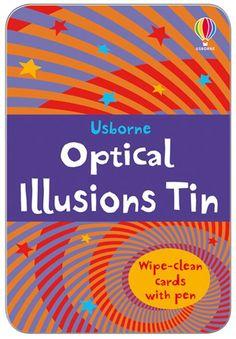 Un set de 80 de carduri cu iluzii optice uimitoare de descoperit si lucruri fascinante despre felul in care functioneaza iluziile optice.  Prezentate intr-o cutie frumoasa pot fi un cadou deosebit.
