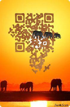 QR Code prodotti da Ineo Scan - bellissimi, decodificando questo Codice QR , sarete indirizzati al sito e vedrete gli altri Codici artistici - Code Africa...- - QR Code produced by Ineo Scan- beautiful, decoding the QR code, you will be directed to the site and see other codes.