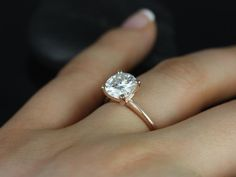 Skinny Alberta 8mm 14kt Rose Gold Round FB by RosadosBox on Etsy- white gold would be perfect