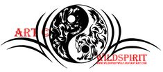 Yin Yang Tribal Wolf Tattoo by *WildSpiritWolf on deviantART