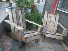 pallet to adirondack chair